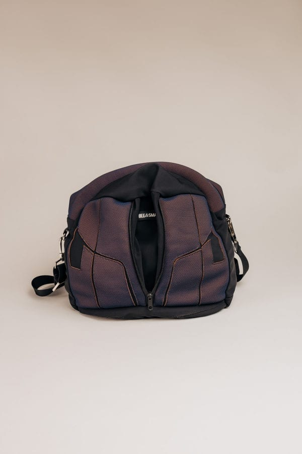 Honey Bag Bee&Smart Camden - Black and purple Neoprene foldable bag