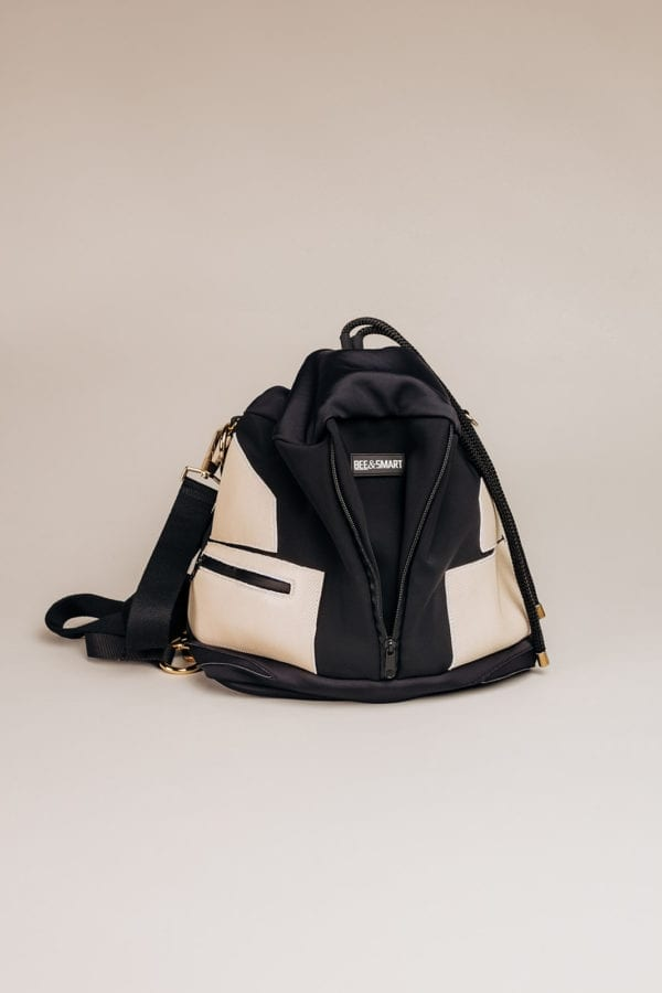 Honey Bag Bee&Smart Bucket Kensington - Black and gold Neoprene foldable bag
