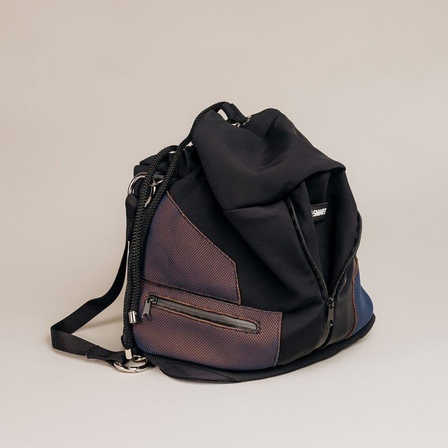 Honey Bag Bee&Smart Seau Mayfair - Sac pliable en Néoprène Noir et Mauve