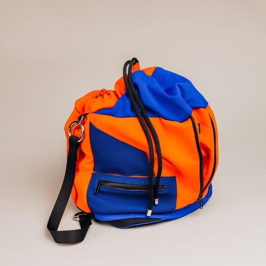 Honey Bag Bee&Smart Bucket Soho - Orange and blue Neoprene foldable bag
